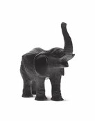 Daum Crystal Elephant Small Black