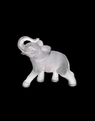Daum Crystal Elephant White