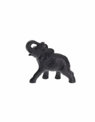 Daum Crystal Elephant Black