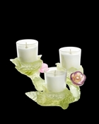 Daum Crystal Cerisier Candle 3 Sets