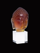 Daum Crystal Little Buddha Ochre