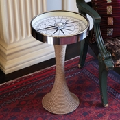 Tozai Home - Working Compass Accent Table with Rope Base