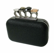 Collective Designs - Jeweled Knuckle Clutch Bag