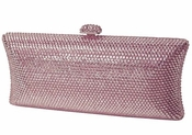 Collective Designs - Samantha Pink Swarovski Crystal Evening Clutch