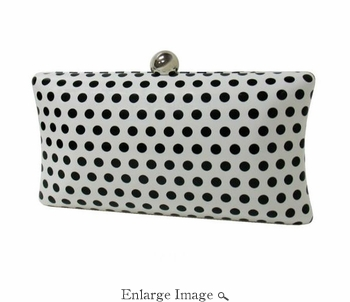 Collective Designs - Patent Leather Polka Dot Clutch