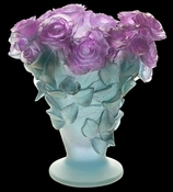 Daum Crystal Rose Ultraviolet Vase