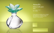 Daum Crystal Perfume Bottle Green