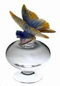 Daum Crystal Butterfly Perfume Bottle