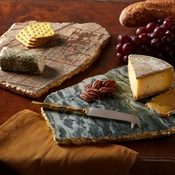 Marble Cheese Plate (With Knife)