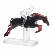 Daum Crystal Black And White Jockey 1000 Limited Edition