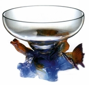 Daum Crystal Butterfly Bowl Crystal