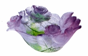 Daum Crystal Roses Coupelle