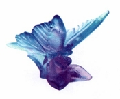 Daum Crystal Butterfly Blue/Lilac