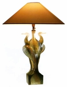 Daum Crystal Birds Heron Lamp
