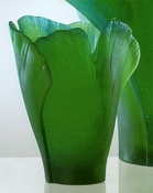 Daum Crystal Ginko Medium Vase