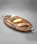 SOLD OUT Nambe Infinity Cheese Board w/Knife