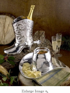 Beatriz Ball WESTERN cowboy boot wine bucket