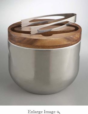 Nambe Mikko Ice Bucket w/Tongs