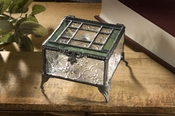 J Devlin Art Glass Box Vintage & Sage