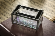 J Devlin Art Glass Box Bl Opal and Cl-Musical Cleft
