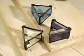 J Devlin Art Glass Box Pale Blue Triangle