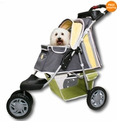 PetZip 1st Class 3 wheeled Jogger Pet Dog Stroller Yellow