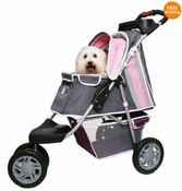 PetZip 1st Class 3 wheeled Jogger Pet Dog Stroller Pink