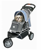 PetZip 1st Class 3 wheeled Jogger Pet Dog Stroller Blue