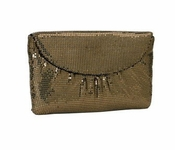 Whiting & Davis The Essentials Flap Clutch Penny