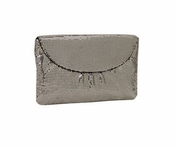 Whiting & Davis The Essentials Flap Clutch Pewter