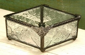 J Devlin Art Glass Box Diamond Vintage