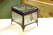 J Devlin Art Glass Box Vint & Plum Daugher-ht