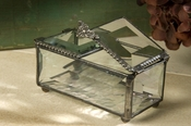 J Devlin Art Glass Box Double Hinged Box-Beveled