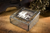 J Devlin Art Glass Photo Box  Photo Box-Vint & Bevels