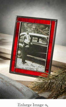 J Devlin Art Glass Picture Frame Red