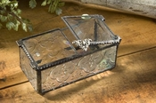 J Devlin Art Glass Box Double Lift Vintage