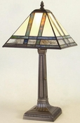 J Devlin Art Glass Lamp Mission Small Table
