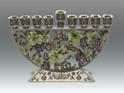 Sold Out - Tizo Jeweled & Enameled Grape Menorah