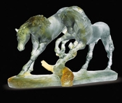 Daum Crystal Love Horses