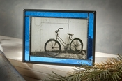 J Devlin Art Glass Picture Frame Blue