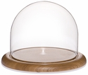 "Glass Dome with Oak Base - 8"" x 6.5"""