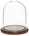 "Glass Dome with Walnut Base - 4.5"" x 6"""
