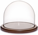 "Glass Dome with Walnut Base - 8"" x 6.5"""