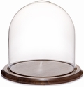 "Glass Dome with Walnut Base - 9.75"" x 10"""