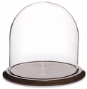 "Glass Dome with Walnut Base - 12"" x 12"""