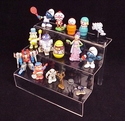 Clear Action Figure / Toy 3-Stair Deluxe Display Shelf<br>for Small-Sized Action Figures and Toys