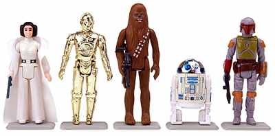 Earth Gray Stands for Vintage Star Wars figures and others
