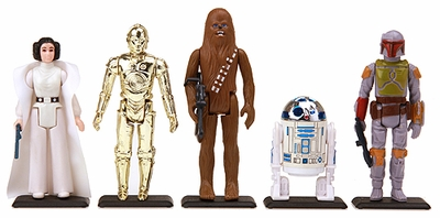Earth Black Stands for Vintage Star Wars figures and others