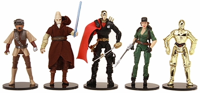 Protech Black Stands for Newer Star Wars figures and others