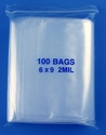 6x9 2mil clear zipper bags, pack of 100
